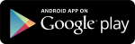 Bankers Insurance Mobile App on Google Play, black button with white lettering and Google Play's multi-color triangular logo.