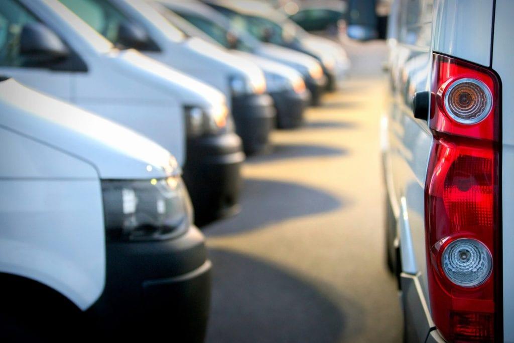 NEMT Umbrella Liability Insurance row of vehicles