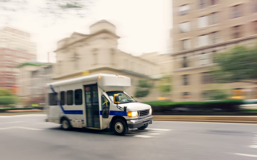 non emergency medical transportation business auto insurance van on city streets