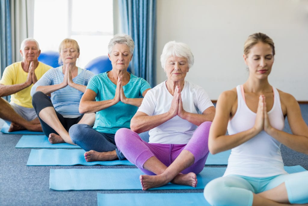 Other insurance for assisted living facilities, yoga instructor teaching seniors.