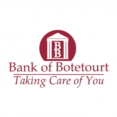 Bank of Botetourt logo, two B's beneath A roof flanked by Greek columns.