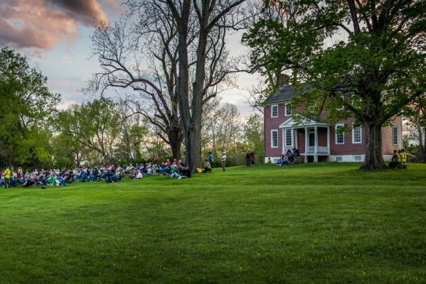 Bowling Green, VA insurance agency, large crowd on lawn at Fredericksburg National Park Visitor Center.