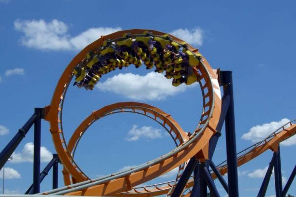 Bowling Green, VA insurance agency, roller coaster loop from nearby Kings Dominion theme park.