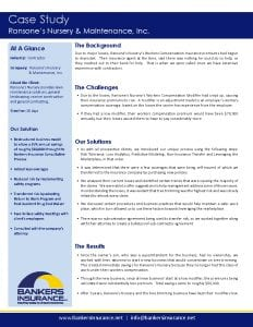 Case study for a contractor insurance client, Ransones Nursery and Maintenance.