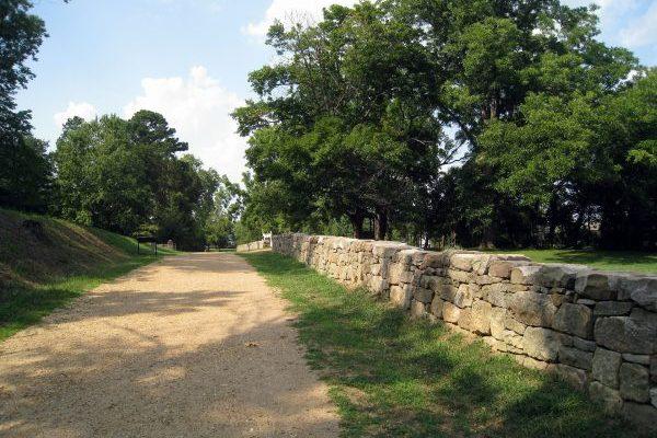Fredericksburg, VA famous Sunken Road of the Fredericksburg battlefield.