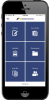 A mobile phone displaying the Bankers Insurance Client Portal.