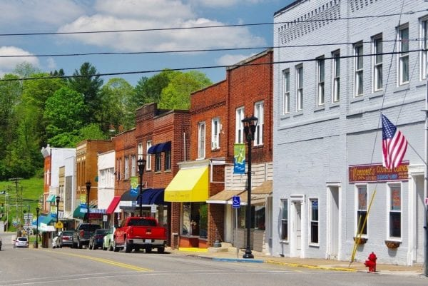 Historic downtown district near our Bluefield, WV Insurance Agency office.
