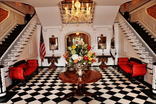 Elegant foyer of the governor's mansion near our Princeton, WV insurance agency.