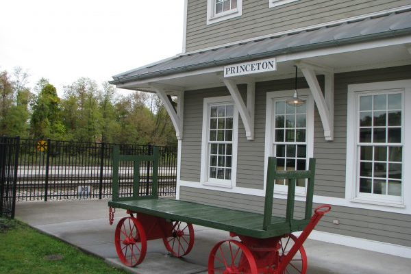 Princeton, WV railroad museum, downtown near our insurance agency office.