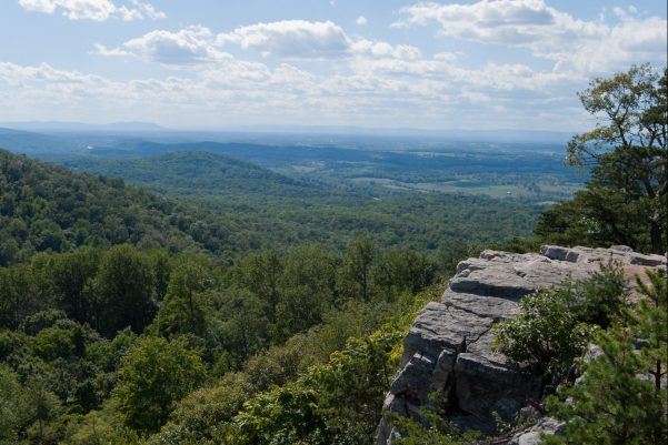 A view from the Appalachian Trail near our Princeton, WV Insurance Agency office. Lush green mountains and blue granite.