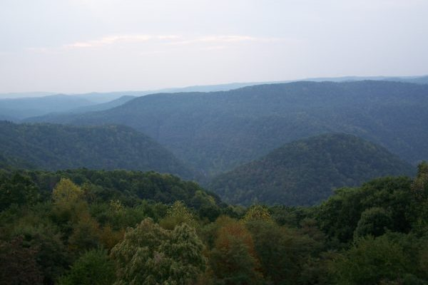 Green forested rolling hills of Pipestem Resort State Park just north of our Princeton, WV insurance agency.