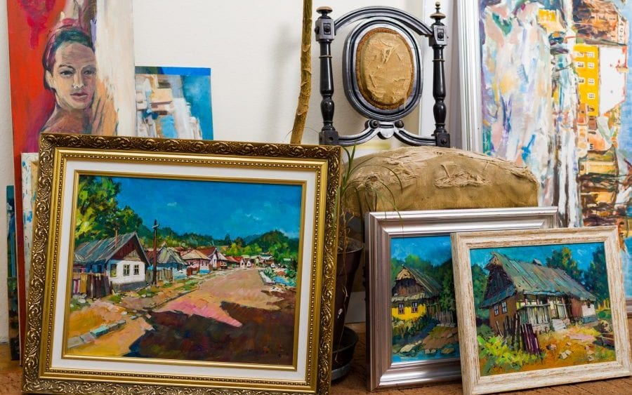 Several paintings and an antique chair, articles needing personal articles floater insurance.