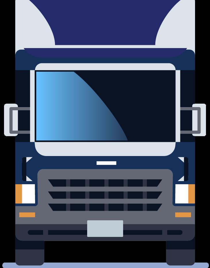 Blue and gray semi truck.