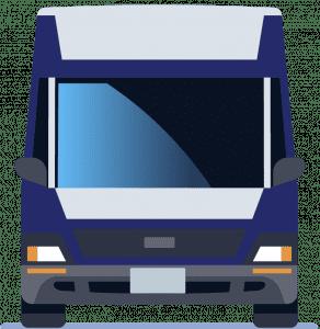 Blue and gray van