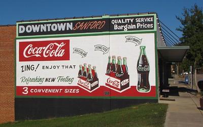 Coca-Cola mural in Sanford, NC.