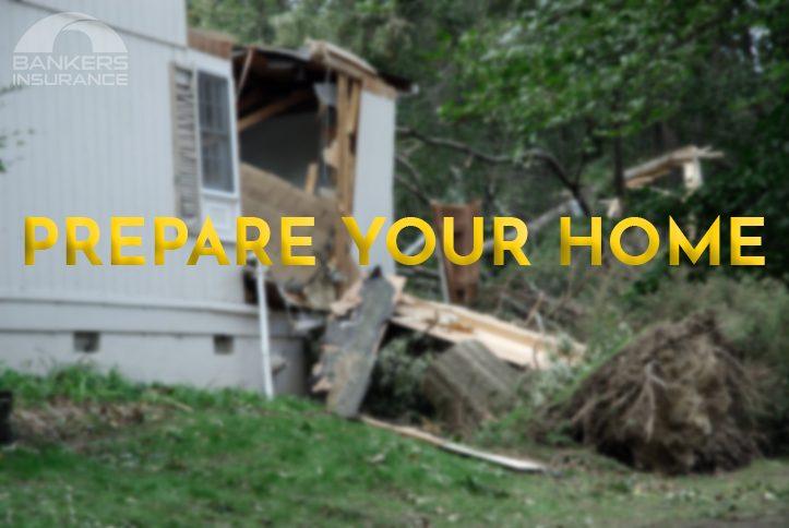 Devastation of a tree on a home.