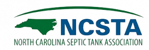 Green map of North Carolina with blud NCSTA.