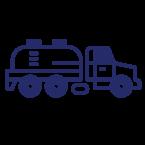 Septic pump truck icon.